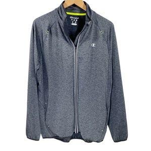 Champion Men's L Full-Zip Performance Jacket Grey